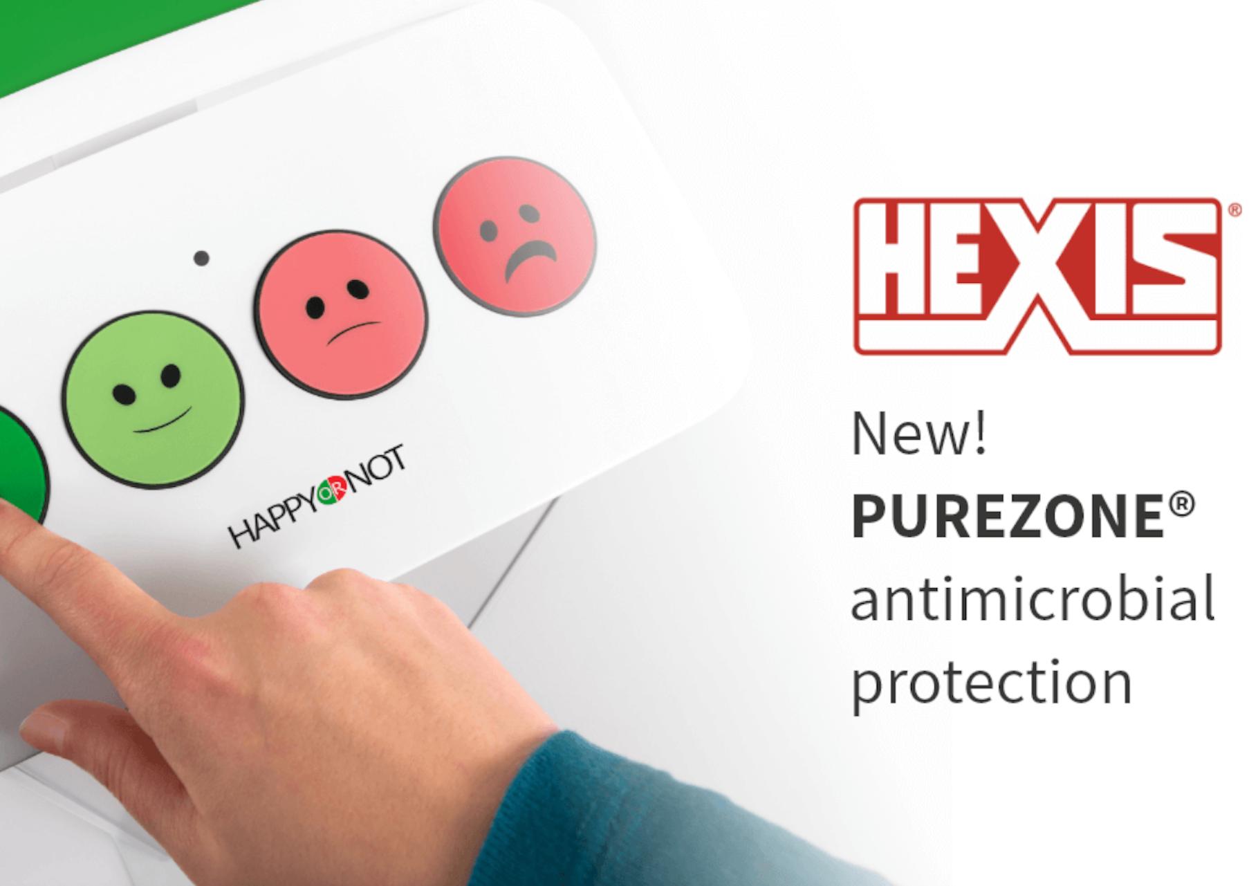 Terminale HappyOrNot będą pokryte specjalną folią przeciwbakteryjną